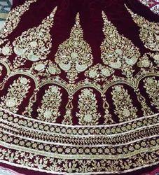 Unstitched Custom Hand Work Indian Premium Bridal Wear Lehenga Choli