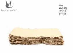 Handmade Paper, Fine-Cut, A4 Size - Beige
