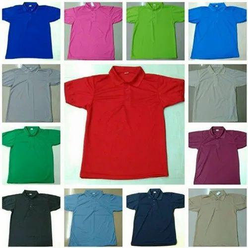 Cotton Half Sleeve Basic Polo Neck T-Shirt