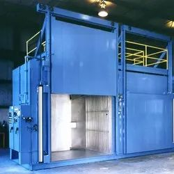 Semi-Automatic 250 Degree Celsius Industrial Powder Coating Ovens, Capacity: 2000-3000 kg