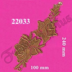 Fancy Decorative Gold Zari Patch