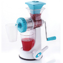 Blue Manual Fruit Juicer