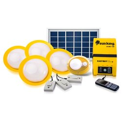 Sun King Home 120 Plus, 4 Solar Ceiling Lights With 1 Portable Motion Sensor Lamp And USB Charging