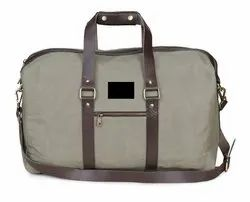 Waxed Canvas & Genuine Leather Travel Bag for Outdoor
