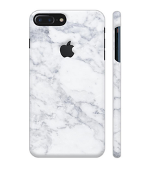 White Marble Artwork On Apple iPhone 7 Plus Logo Cut Cover