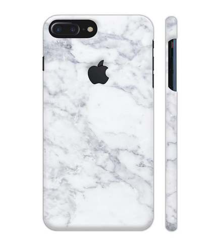 online retailer e9098 bc1d7 White Marble Artwork On Apple Iphone 7 Plus Logo Cut Cover