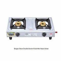 Biogas Stove Double Burner Mini Smart Nano