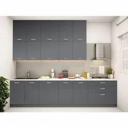 Wooden Straight Designer Modular Kitchen