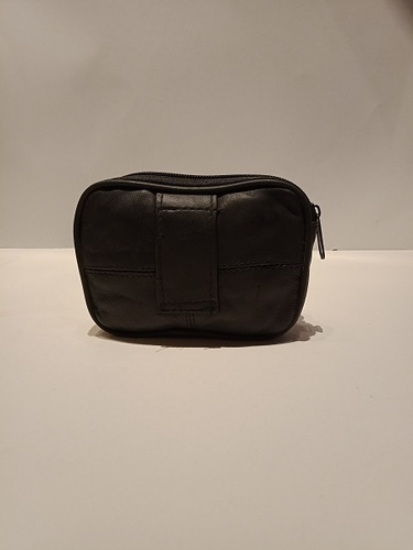 8bc934bd60 Mon Exports Black Genuine Leather Pouch