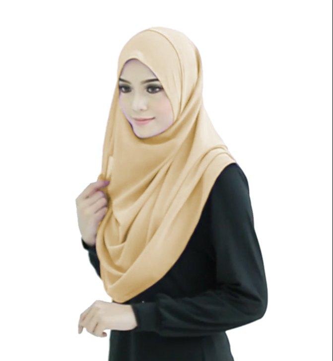 Caramel Beige Color 2 Loop Instant Hijab For Women - Jsdc