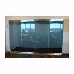 Frameless Glass Double Door