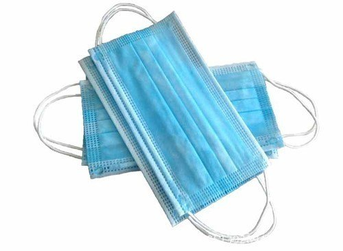 Blue PP Non-Woven Doctor Mask, Earloop