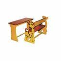 Giraffe Shaped Cartoon Desk For Play School Furniture