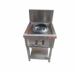 GLORIOUS PROFESSIONAL Stainless Steel Single Burner Chinese Counter, 1, Model Name/Number: GL-CB1