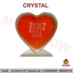 Sublimation Heart Shaped Photo Crystal