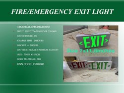 Square Yellow Led Emergency Exit Sign, For Industrial