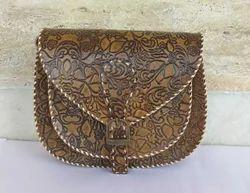 Leather Printed Handmade Bag