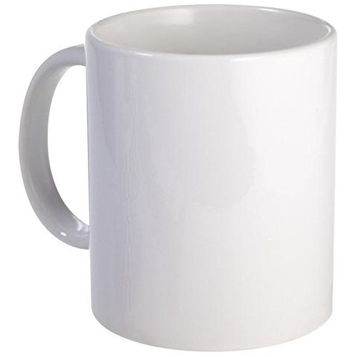White Ceramic Plain Coffee Mug For Sublimation Printing Usage Home Office