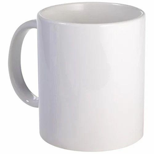 Plain White Ceramic Coffee Mug For