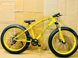 Yellow Fat Tyre Cycle