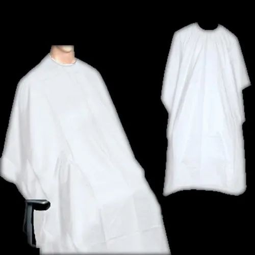 Disposable Hair Cut Non Woven Apron (White), Size: Free