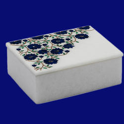 White Marble Stone Inlay Box