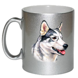 Round Ceramic Silver Sublimation Mug, Size/Dimension: 11 Onz