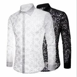 Cotton Collar Neck Mens Club Wear Shirts