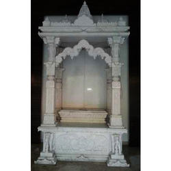 White Polished Home Marble Temple
