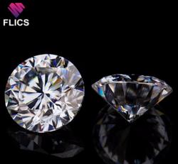 Moissanite Diamonds 0.005 to 10 Carat, (D,E,F,G,H,I Color),  Purity (IF, VVS1, VVS2, VS1, VS2
