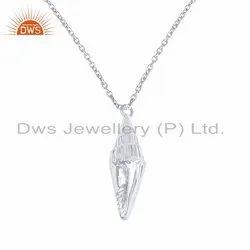 Handmade 925 Sterling Fine Plain Silver Chain Pendant