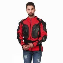 Red Black Full Sleeve Protective Bike Rider Jacket