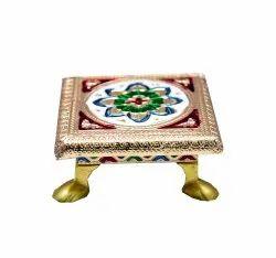Wooden Handicraft Bajot for Pooja