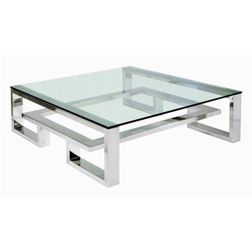 Stainless Steel Frame Coffee Table Ss