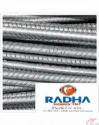 Radha TMT Steel Bar, For Construction, Unit Length: 6 - 12 meter