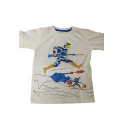 White Cotton Kids T Shirt