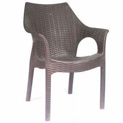 Brown Polyset Crown Plastic Chair