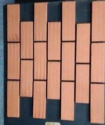 Rectangular Decorative Red Bricks, Size: 9x3 Inc