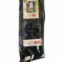 Black Sports Cotton Socks, Size: Large