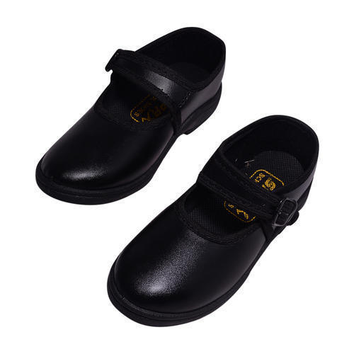 Slyder Girls School PVC Shoes, Size: 1