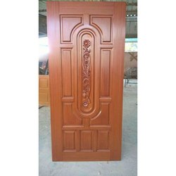 Brown 6 Feet Laminated Fiber Door for Home