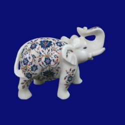 Marble Inlay Elephant Statue