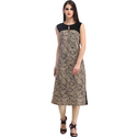 Cottinfab Women's Printed Sleeveless Kurti