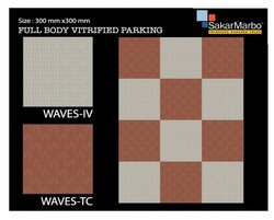 Wave Full Body Vitrified Parking Tiles