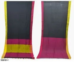 Lucky Casual 100% Cotton Khadi Sarees with Blouse Piece