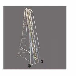 Telescopic Wheeled Ladder