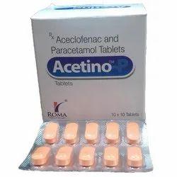Acelofenac 100mg,Paracetamol 325mg Tablet