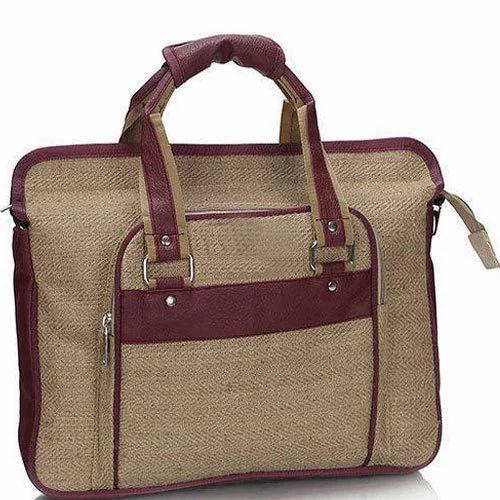 Plain K2S Jute Laptop Office Bag