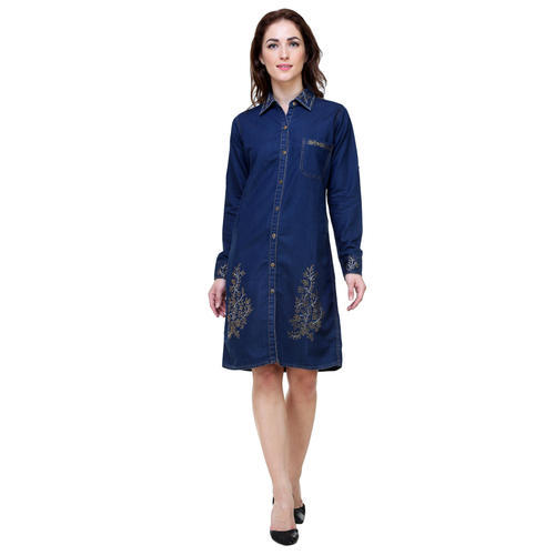 43a1f9c1f6 Large Denim Midi Dress