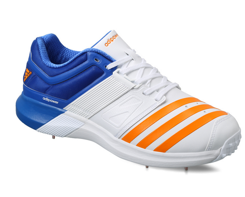 info for 6295f 2c223 Blue White Orange Men  s Adidas Adipower Vector Low Shoes, Size  6